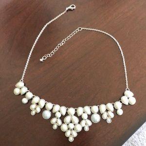Pale blue statement necklace